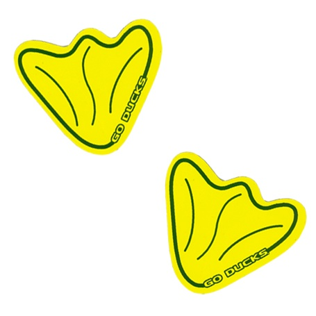 Yellow Game Feet Car Magnet